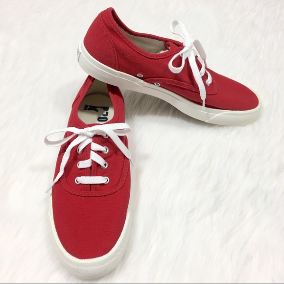 Pro Keds Cherry Red Canvas Tennis Shoes